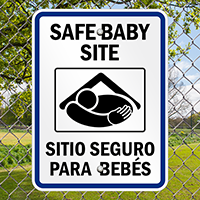 Safe Baby Site Sign With Graphic