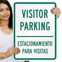 Visitor Parking Estacionamiento Visitas Sign