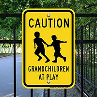 Caution Grandchildren At Play Sign