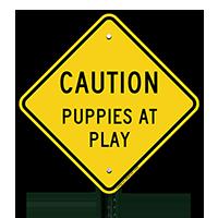 Puppies At Play Sign