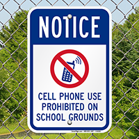 Cell Phone Prohibited Notice Sign