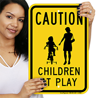 Caution, Kids at Play Sign