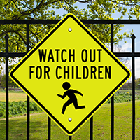 Watch Out For Children (crossing Symbol) School Sign