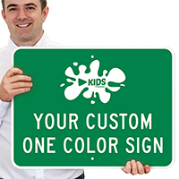 Customizable Horizontal Color Printed Sign