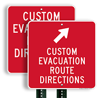 Custom Evacuation Route Sign