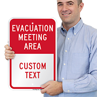 Evacuation Meeting Area Sign