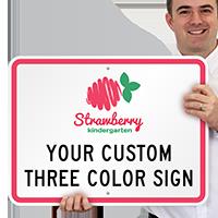 3-Color Printed Custom Horizontal Sign
