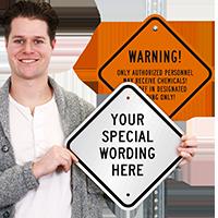 Customizable Diamond Shaped Sign