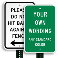 Custom Vertical Sign