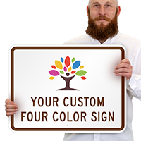 4-Color Printed Custom Horizontal Sign