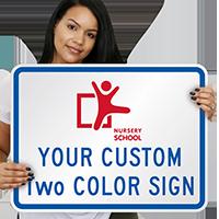 2-Color Printed Custom Horizontal Sign