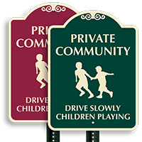 Slowly Children Playing Sign