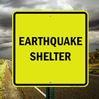 Earthquake Shelter Emergency Sign