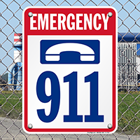 911 Pool Phone Signs