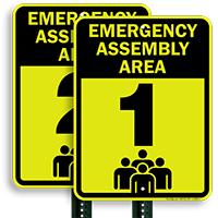 Emergency Assembly Point  Area 1 Sign