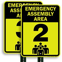 Emergency Assembly Point  Area 2 Sign