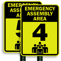 Emergency Assembly Point  Area 4 Sign