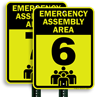 Emergency Assembly Point  Area 6 Sign