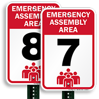 Emergency Assembly Point  Area 7 Sign