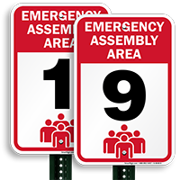 Emergency Assembly Point  Area 9 Sign