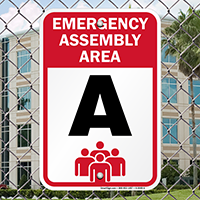 Emergency Assembly Point  Area A Sign