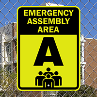 Emergency Assembly Area, Evacuation Sign
