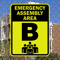 Emergency Assembly Point  Area B Sign