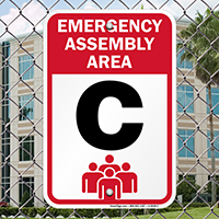 Emergency Assembly Point  Area C Sign