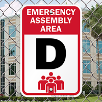 Emergency Assembly Point  Area D Sign