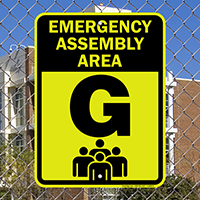Emergency Assembly Point  Area G Sign