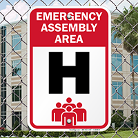 Emergency Assembly Point  Area H Sign