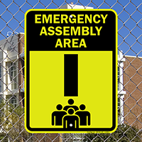 Emergency Assembly Point  Area I Sign
