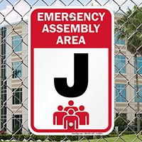 Emergency Assembly Point  Area J Sign