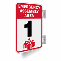 Emergency Assembly Area Number 1 Double Sided Sign