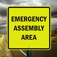 Emergency Assembly Area Evacuation Sign