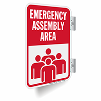 Emergency Assembly Area Double-Sided Sign