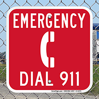 Emergency Dial 911 Sign