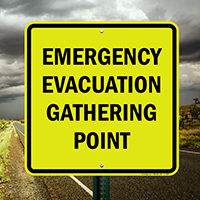 Evacuation Gathering Point Fire Drill Sign