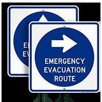 Arrow Sign for Emergency Evacuation