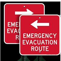 Evacuation Route Left Arrow
