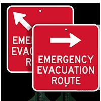 Evacuation Route Right Arrow