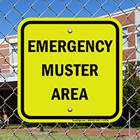 Glow Emergency Muster Area Safety Sign