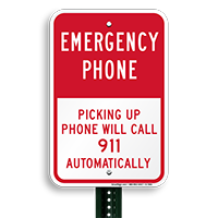 Emergency Telephone, picking Up Signs