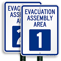 Evacuation Assembly Area 1 Sign