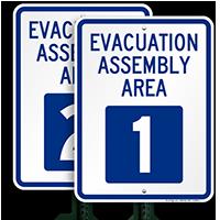 Evacuation Assembly Area 1 Sign