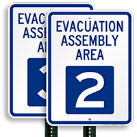 Evacuation Assembly Area 2 Sign