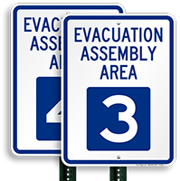 Evacuation Assembly Area 3 Sign