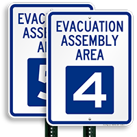 Evacuation Assembly Area 4 Sign