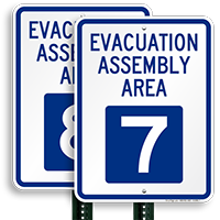 Evacuation Assembly Area 7 Sign