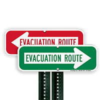Evacuation Route Sign